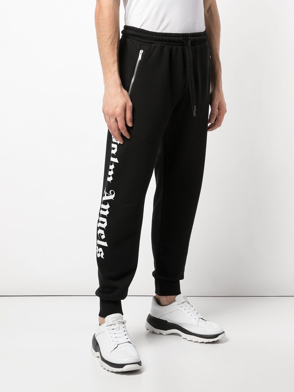 PALM ANGELS MEN LOGO OVER JOGGING PANTS