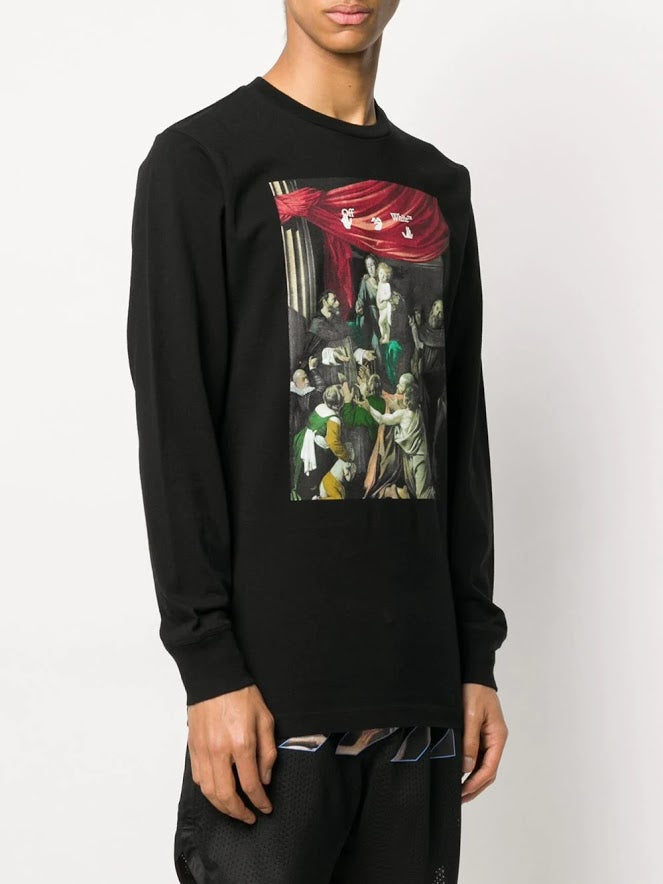 OFF-WHITE MEN CARAVAGGIO PAINTING L/S TEE