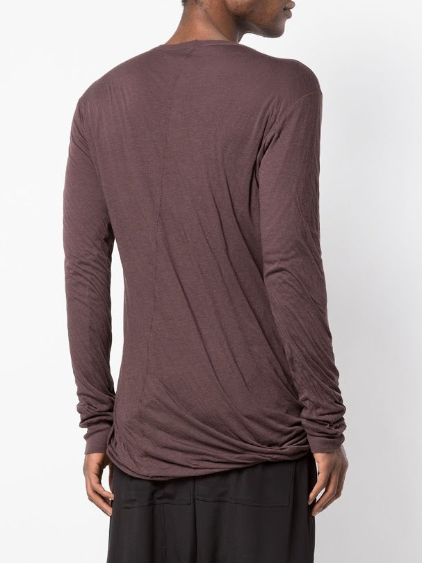 RICK OWENS MEN DOUBLE LONG SLEEVE TEE