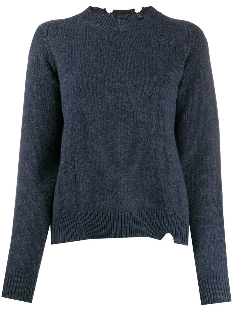 MAISON MARGIELA WOMEN DISTRESSED SWEATER