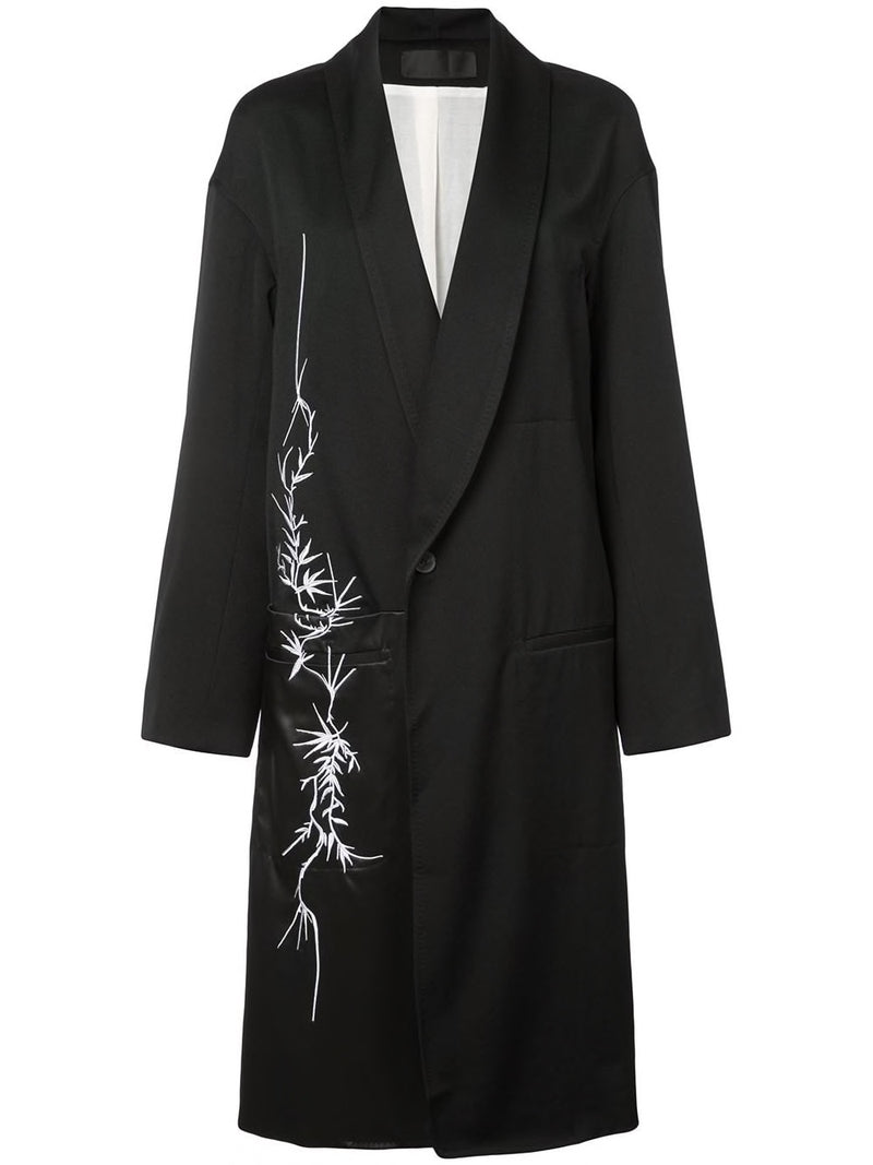 HAIDER ACKERMANN WOMEN PANELED COAT WITH EMBROIDERY 184-5101-191-099