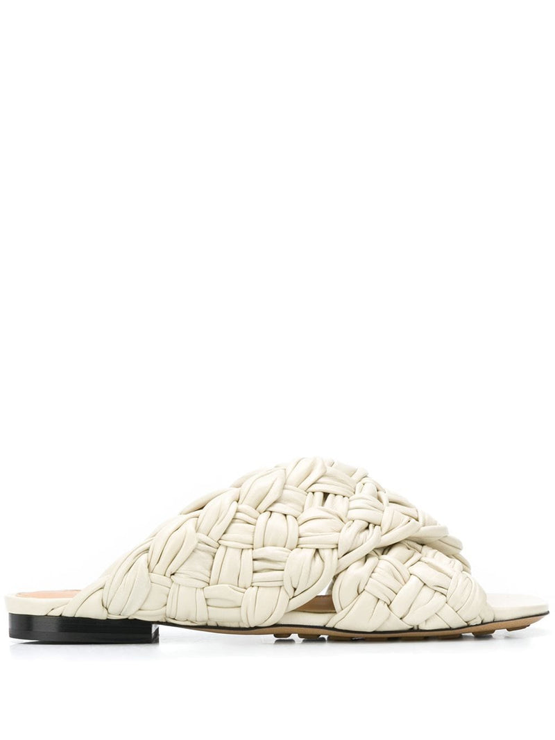 BOTTEGA VENETA WOMEN BOARD FLAT SANDALS