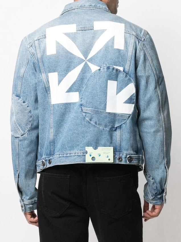 OFF WHITE MEN ARROW TWIST DENIM JACKET