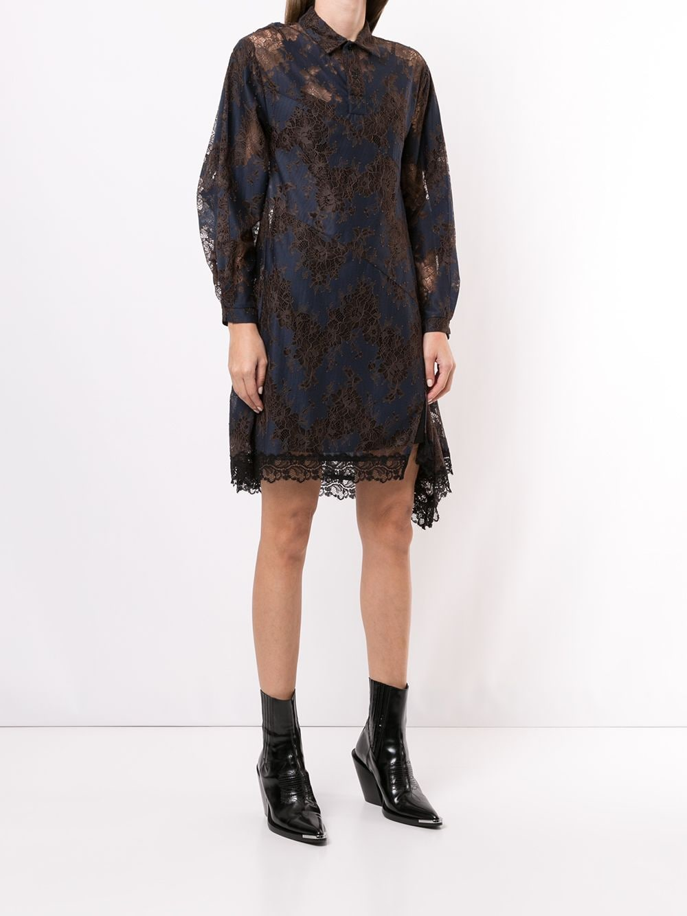 KOCHE WOMEN LACE SHIRT DRESS
