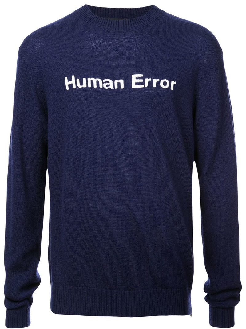 UNDERCOVER MEN HUMAN ERROR SWEATER