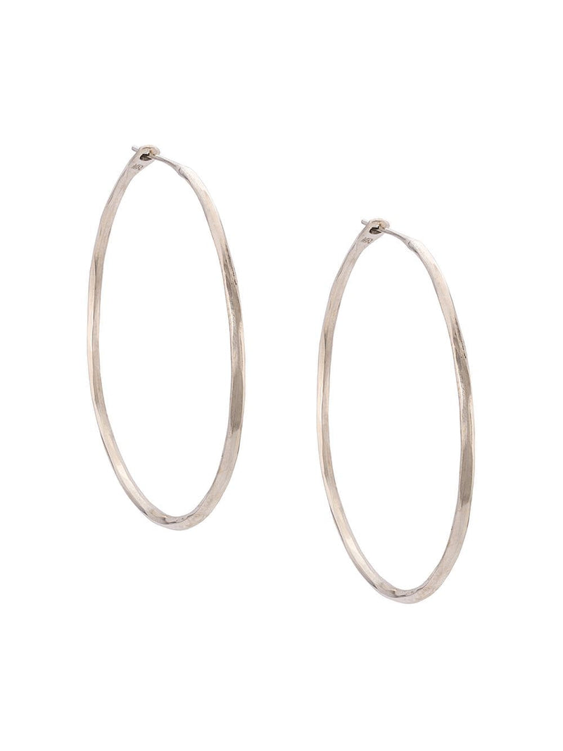 WERKSTATT MUNCHEN HOOP EARRINGS HAMMERED M4511