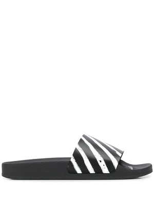 OFF-WHITE MEN SPRAY STRIPES SLIDERS