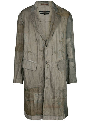 ZIGGY CHEN MEN LETTER PRINTED LIGHT COAT
