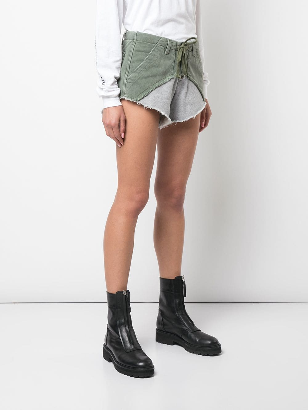 GREG LAUREN WOMEN AARMY/TERRY SHORT