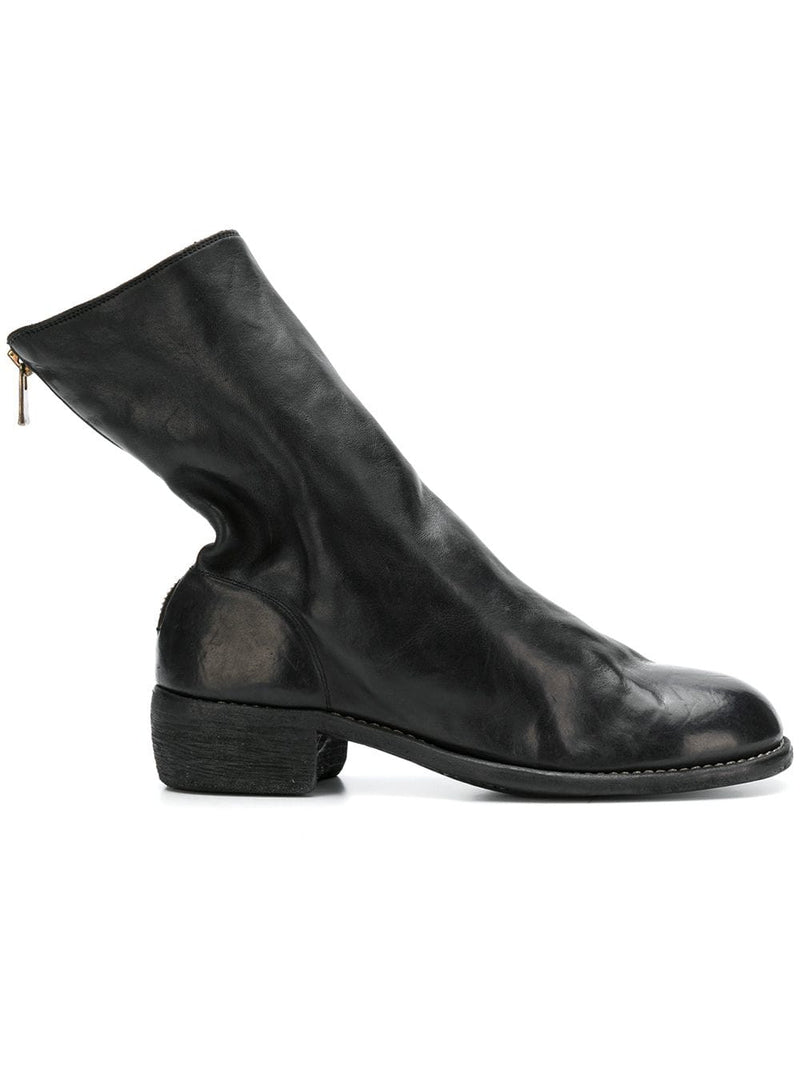 GUIDI MEN 788Z HORSE LEATHER BACK ZIP BOOT