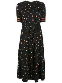 UNDERCOVER WOMEN BLACK LIGHT REACTIVE PRINT DRESS