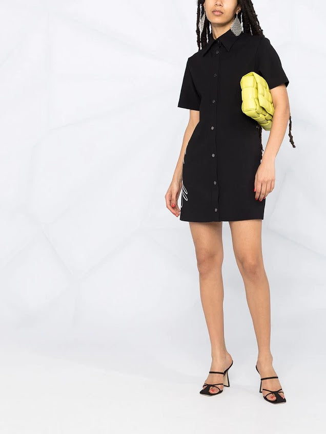 OFF WHITE WOMEN LOGO SHIRT DRESS