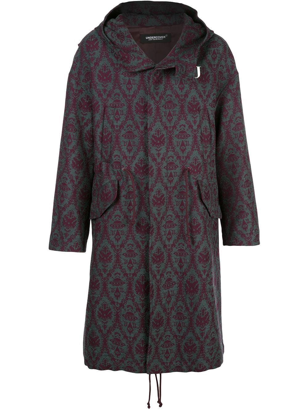 UNDERCOVER X VALENTINO JACQUARD HOODED COAT