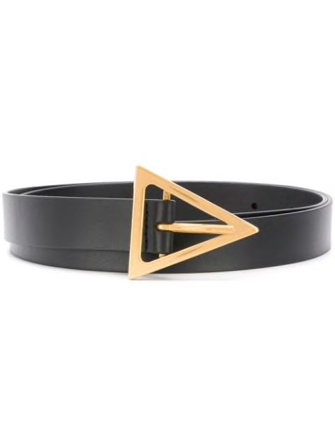 BOTTEGA VENETA WOMEN TRIANGULAR BUCKLE BELT