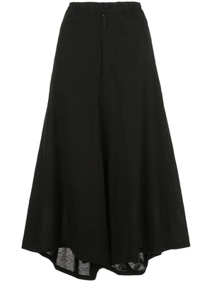 Y'S WOMEN BACK WRAP FLARED PANTS