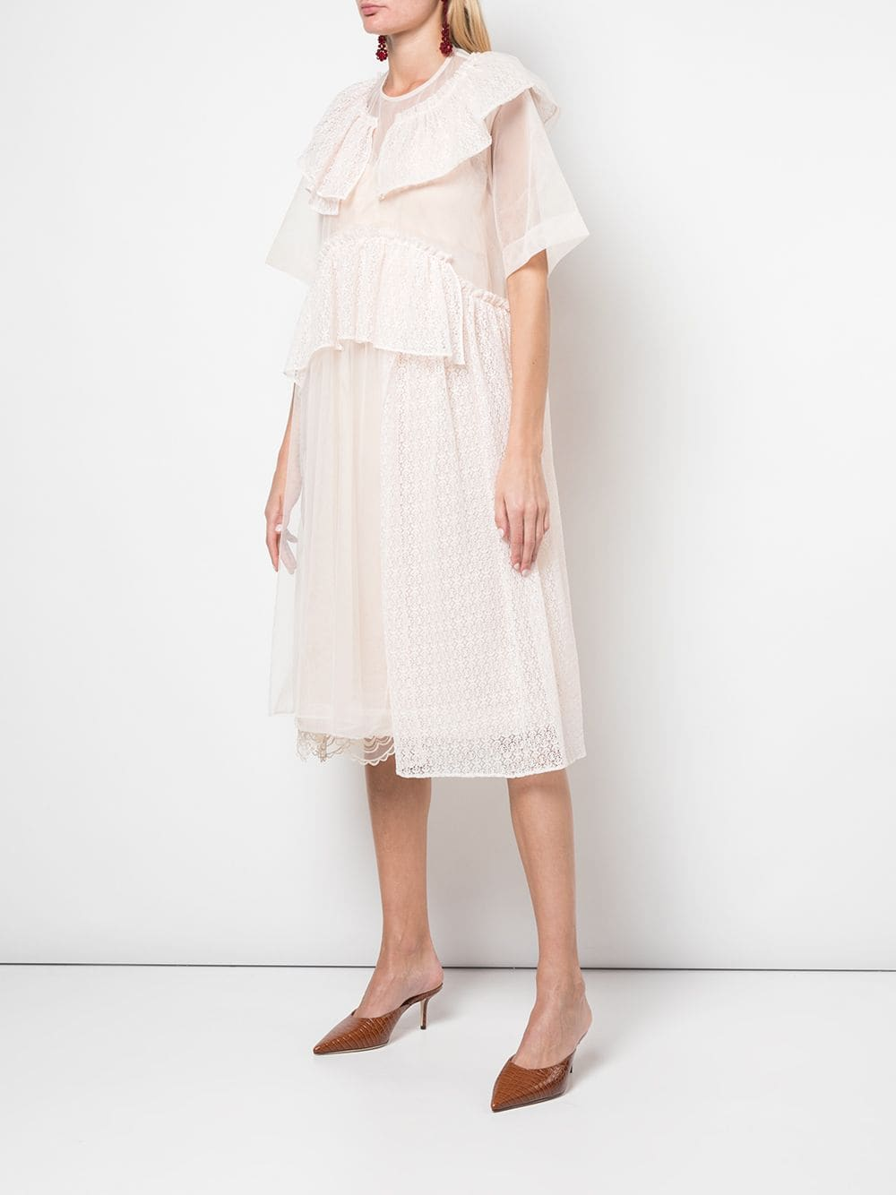 SIMONE ROCHA WOMEN FRILL TIERS DRESS
