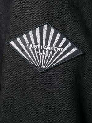 SAINT LAURENT MEN COTTON GABARDINE PARKA CAPUCHE