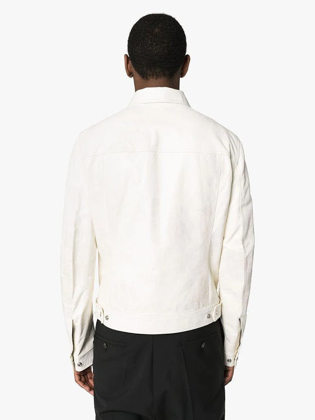 RICK OWENS MEN LEATHER WORKER JACKET