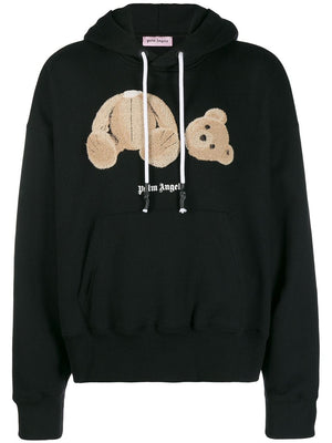 PALM ANGELS MEN KILL THE BEAR CROPPED HOODIE