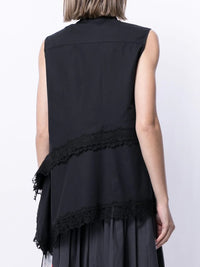 KOCHE WOMEN SLEEVELESS LACE SHIRT