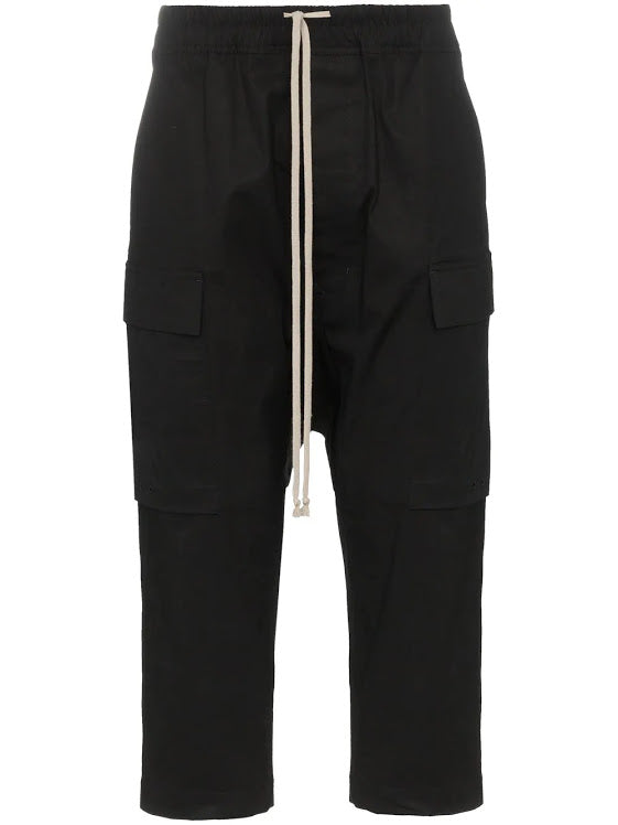 RICK OWENS MEN DRAWSTRING PERFORMA CROPPED PANTS