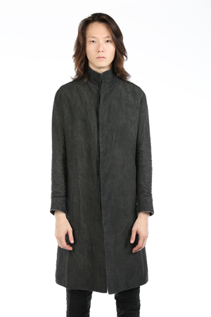 LAYER-0 MEN LINEN TRENCH COAT