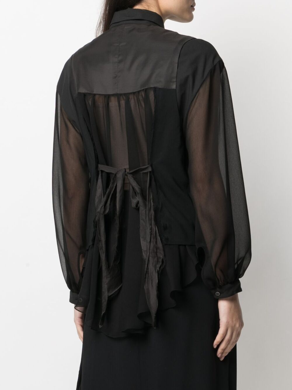 UNDERCOVER WOMEN SHEER SHIRT WITH VEST