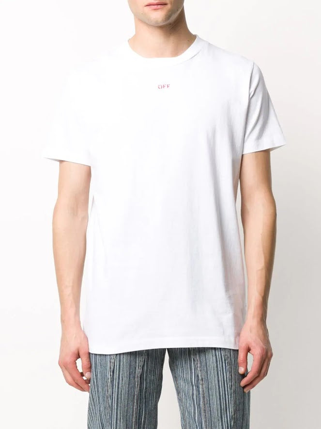 OFF-WHITE MEN STENCIL S/S SLIM TEE