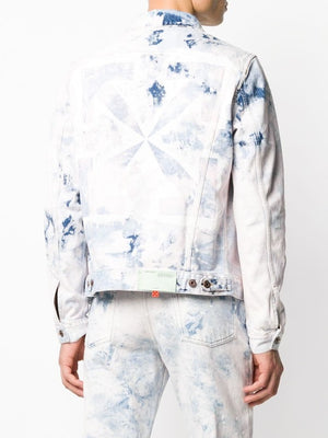 OFF-WHITE MEN ARROW SLIM JEANS JACKET