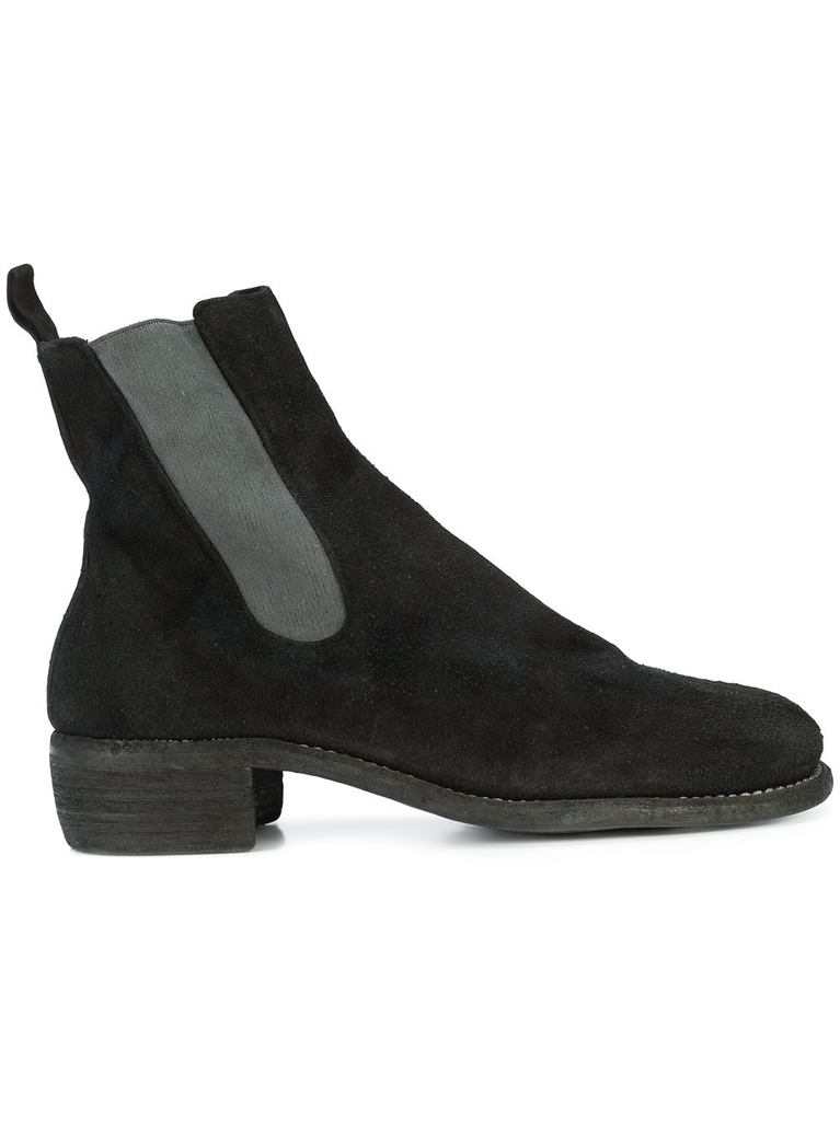 GUIDI MEN 76Z BABY CALF REVERSE LEATHER CHELSEA BOOT
