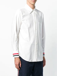 THOM BROWNE MEN GROSGRAIN CUFF CLASSIC POINT COLLAR BUTTON UP LONG SLEEVE SHIRT IN OXFORD