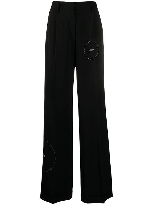 OFF WHITE WOMEN GABARDINE FORMAL PANT