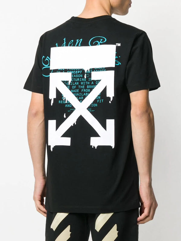 OFF-WHITE MEN DRIPPING ARROWS S/S SLIM TEE