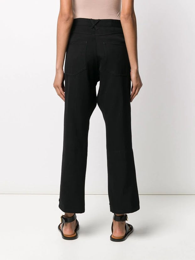 ANN DEMEULEMEESTER MEN CLASSIC COMBO TROUSER WITH KEYCHAIN