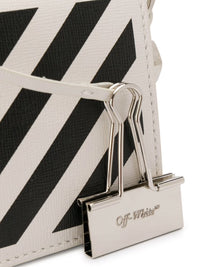 OFF-WHITE WOMEN DIAG BABY FLAP BAG OFF WHITE BLACK