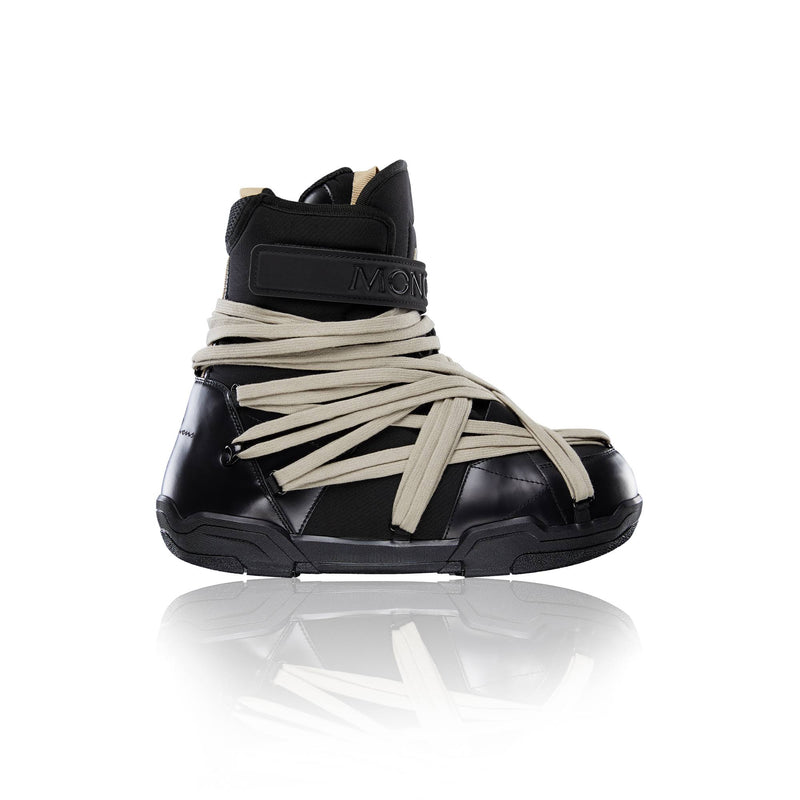 MONCLER + RICK OWENS MEN AMBER LEATHER BOOTS