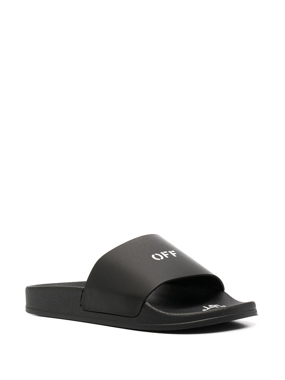 OFF-WHITE WOMEN POOL SLIDER BLACK WHITE