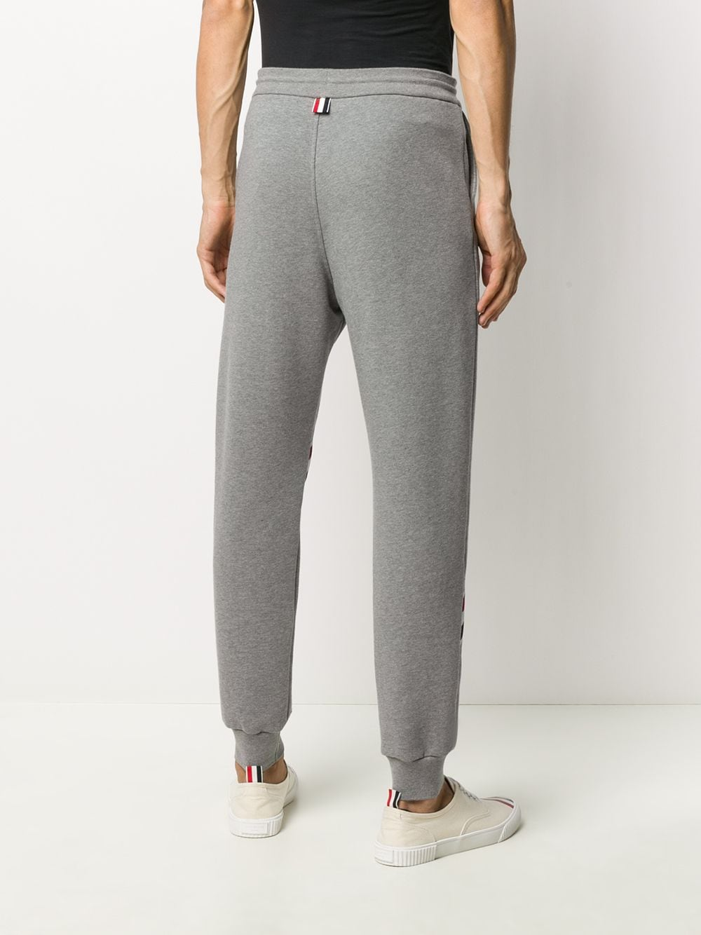 THOM BROWNE MEN SWEATPANTS W/ PRINTED RWB DIAGONAL STRIPE IN CLASSIC LOOPBACK