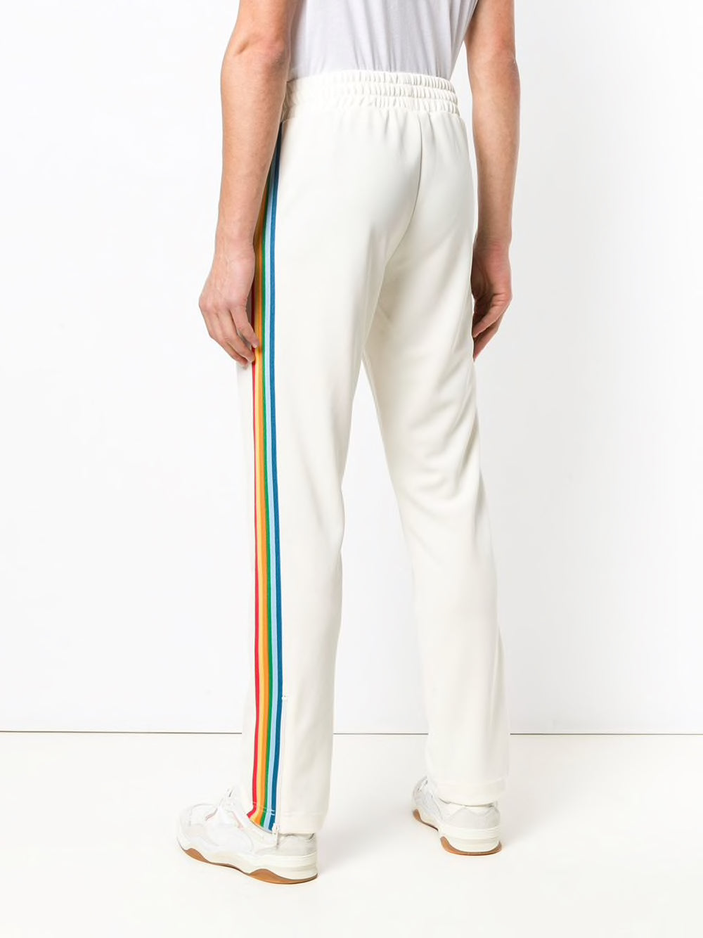 PALM ANGELS MEN RAINBOW TRACK PANTS