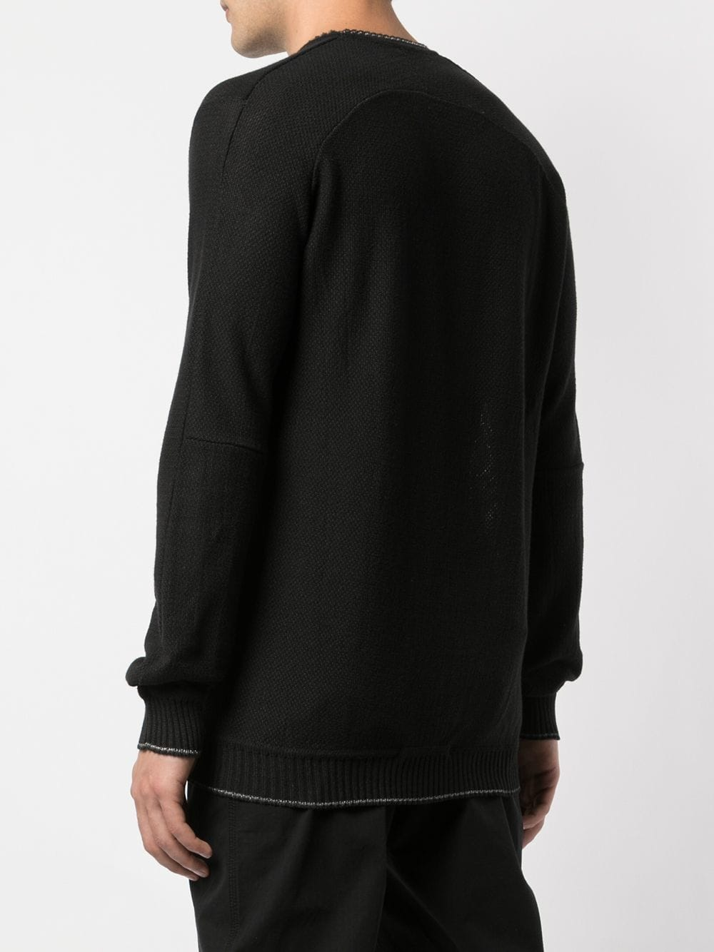 TAICHI MURAKAMI MEN RAMIE COTTON RASCHEL LIGHT SWEATER