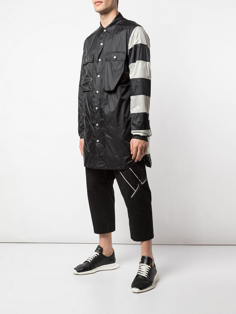 RICK OWENS MEN EMBROIDERIED SHIRTBAG JACKET