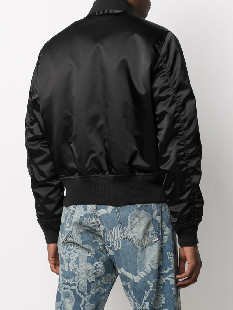 OFF-WHITE MEN HAND OFF BOMBER JACKET