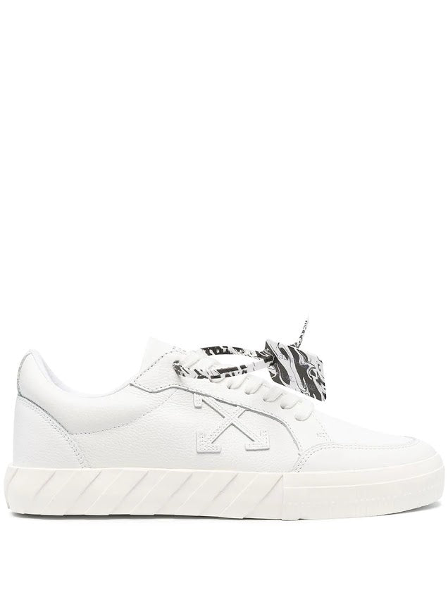 OFF WHITE MEN LOW VULCANIZED CALF LEATHER SNEAKER