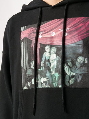 OFF-WHITE MEN CARAVAGGIO PAINTING OVER HOODIE
