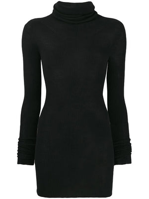 RICK OWENS RIBBED LONG SLEEVE TUBE SWEATER