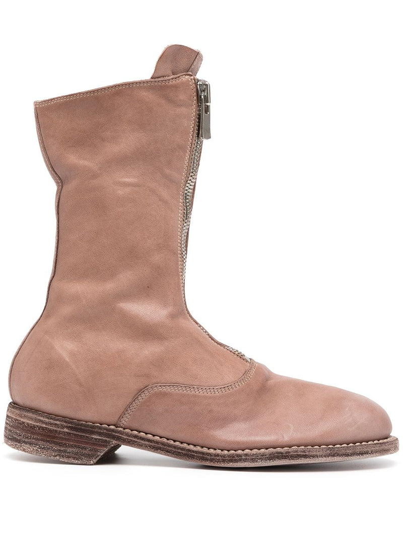GUIDI WOMEN 310 SOFT HORSE LEATHER FRONT ZIP MILITARY BOOT