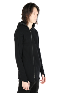 LEON EMANUEL BLANCK MEN DISTORTION ZIPPED HOODIE