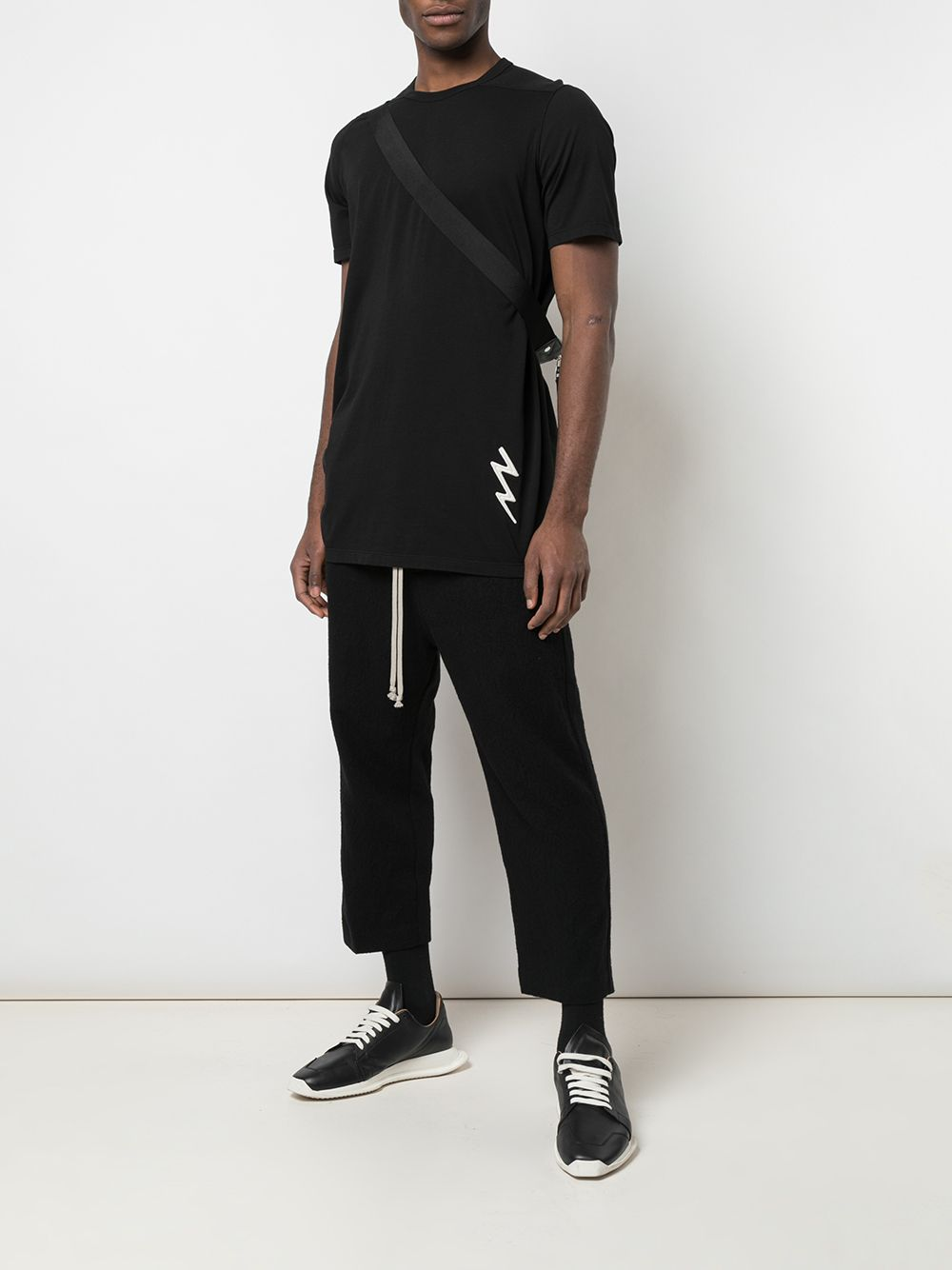 RICK OWENS MEN DRAWSTRING CROPPED ASTAIRE PANTS
