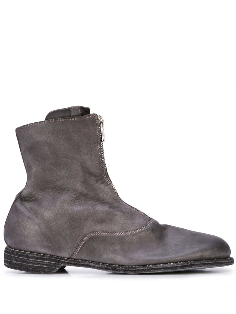 GUIDI MEN 210 FRONT ZIP SHORT MILITARY BOOT