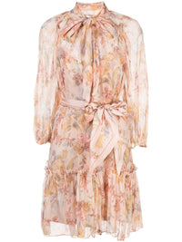 ZIMMERMANN WOMEN MINI NECKTIE DRESS